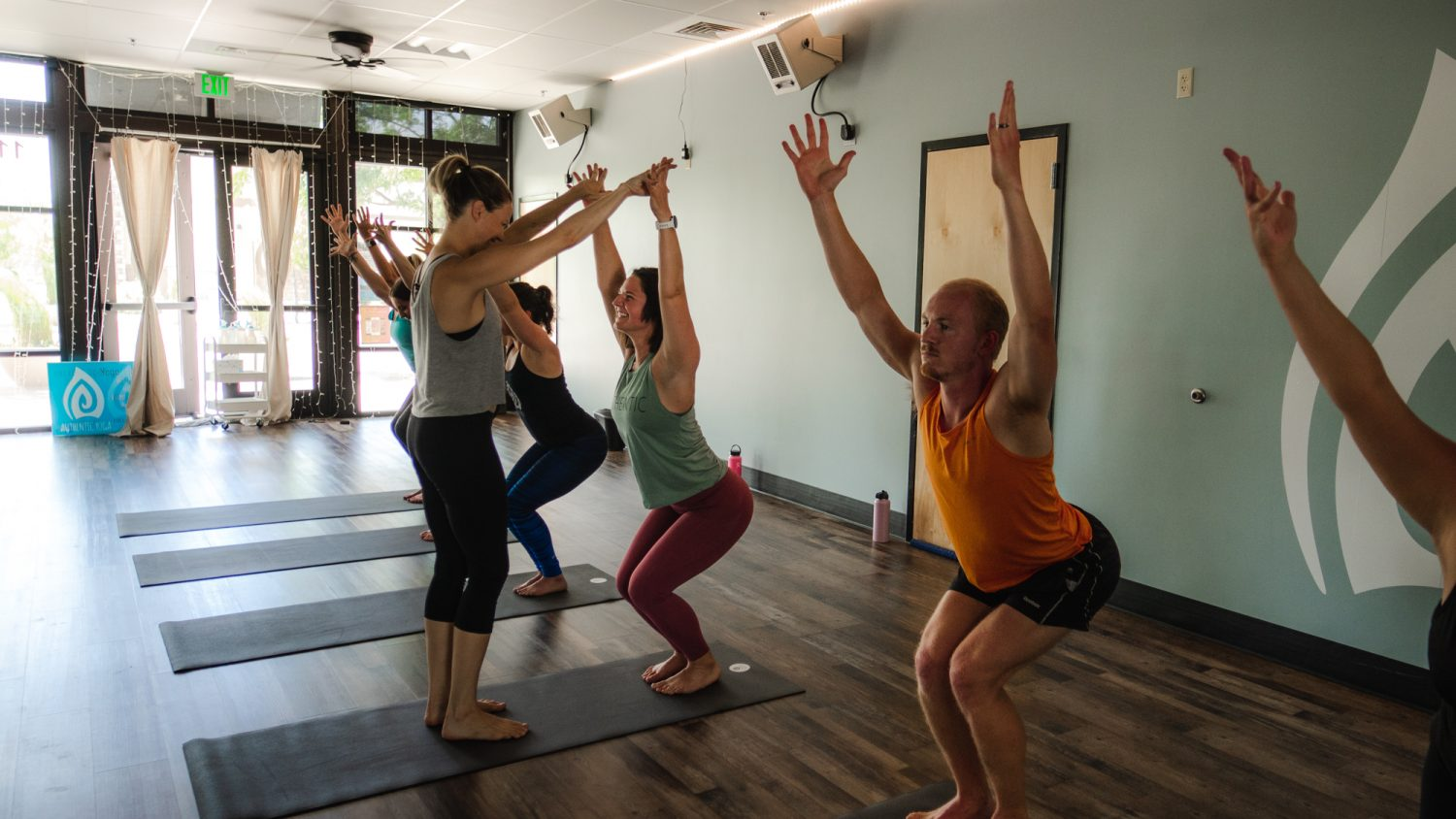 Yoga poses in boise studio location